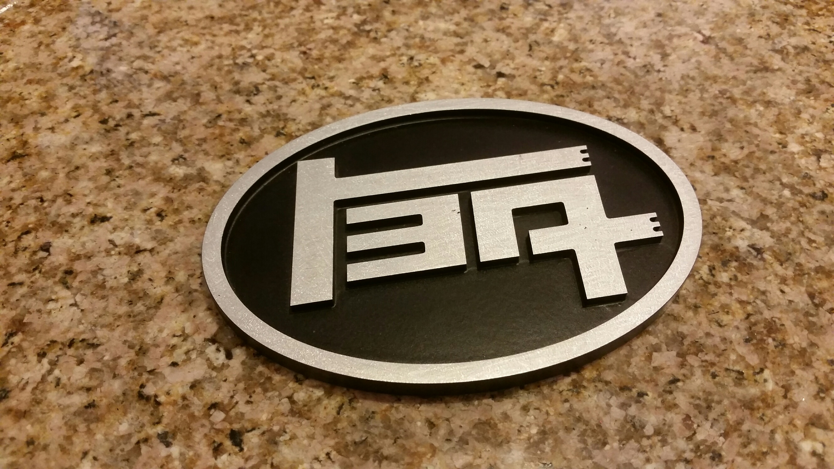 Aluminum Teq Universal Badge Round And Oval Bh3d Printing