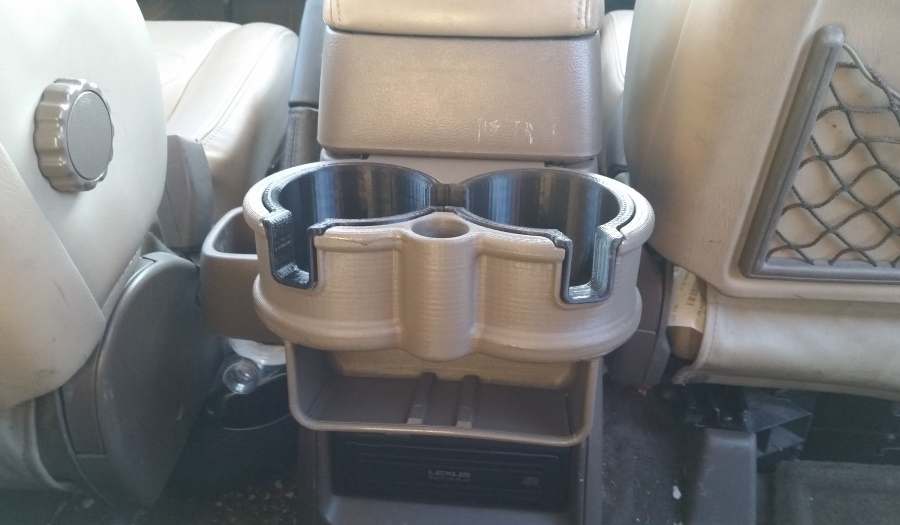 80 Series/LX450 Rear Double Cup Holder – BH3D Printing